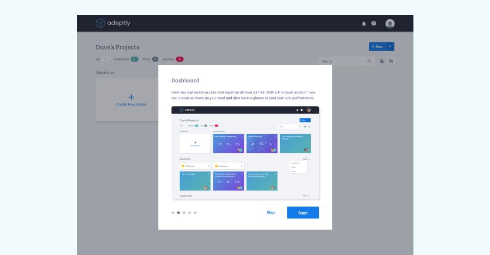 New user orientation